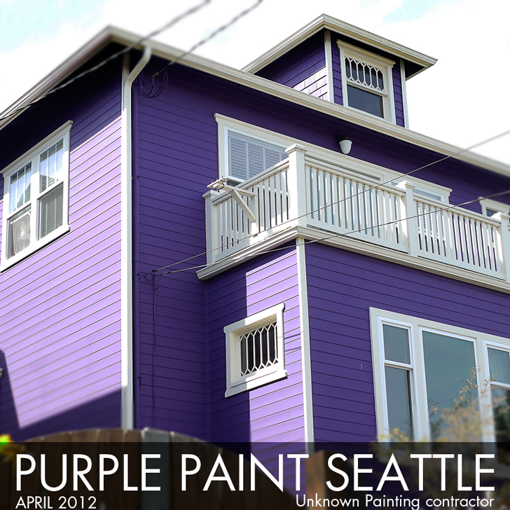 purple house paint